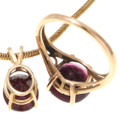 Red Gemstone Garnet 14K Gold Jewelry 39878