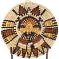 Butterfly Maiden Kachina Design Polychrome Authentic Hopi Basket 39921