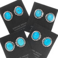 High Grade Turquoise Gemmy Kingman Turquoise Earrings 39926
