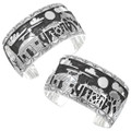 Storyteller Bracelet Navajo Reservation Life Sterling Silver Cuff 39928