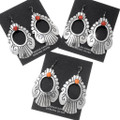 Spiny Oyster Sterling Silver Navajo Earrings Dangles 39949