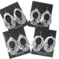 Authentic Native American Lapis Dangle Earrings 39952