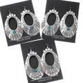 Sterling Silver Western Navajo Dangle Earrings 39953
