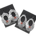 Red Shell Native American Western Dangle Earrings 39955