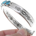 Turquoise Heavy Gauge Silver Mens Cuff 39962