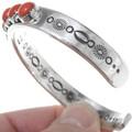 Coral Silver Mens Bracelet 39963