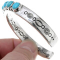 Turquoise Heavy Gauge Silver Mens Cuff 39964