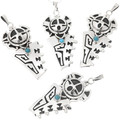 Turquoise Silver Pendant 39966