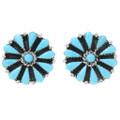 Sleeping Beauty Turquoise Silver Post Earrings 39979