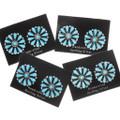 Sterling Silver Sleeping Beauty Turquoise Earrings 39979