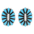 Turquoise Petit Point Post Earrings 39980