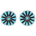 Sleeping Beauty Turquoise Silver Earrings 39981
