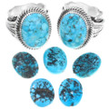 Spiderweb Turquoise Sterling Silver Rings 39998