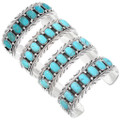Turquoise Sterling Silver Navajo Mens Cuff Bracelet 40030