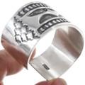 Native American Hammered Sterling Silver Bracelet 40036