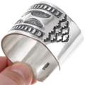 Navajo Artist Jerrold Tahe Handmade Silver Cuff Signed 40036