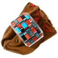 Colorful Multistone Inlay Spiny Oyster Turquoise Bracelet 40063