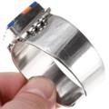 Colorful Gemstone Inlay Geometric Pattern Navajo Bracelet 40073