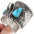 Genuine Bear Claw Turquoise Native American Bracelet 40075