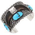 Large Vintage Turquoise Bear Claw Bracelet 40075