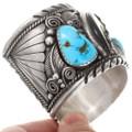 Ithaca Peak Turquoise Navajo Bear Claw Bracelet 40075
