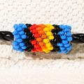 Navajo Made Colorful Beaded Western Hatband 40076
