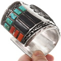 Vintage 1970s Zuni Owl Design Cuff Bracelet 40078