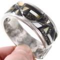 Native American Geometric Pattern Gemstone Inlay Bracelet 40093