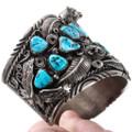 Sleeping Beauty Turquoise Nugget Native American Bracelet 40094