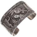 Old Pawn Becenti Navajo Storyteller Bracelet 40098