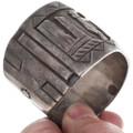 Sterling Silver Overlay Native American Cuff Bracelet 40098