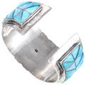 Sterling Silver Turquoise Opal Cuff Bracelet Artist Signed 40109