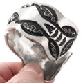 Apache Made Solid All Sterling Silver Cuff Bracelet 40115