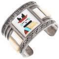 Vintage 1970s Zuni Kachina Inlay Bracelet 40116