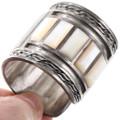Sterling Silver Cuff Turquoise Shell Inlay Kachina Bracelet 40116