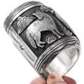Large Hand Crafted Sterling Silver Tommy Singer Bracelet 40127