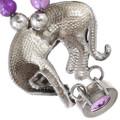 Big Cat Sterling Silver Amethyst Gemstone Necklace 40144