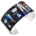 Vintage Inlaid Night Sky Kachina Bracelet 40148
