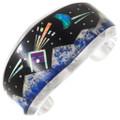 Vintage Night Sky Inlay Navajo Bracelet 40155