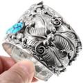 Vintage Sleeping Beauty Turquoise Sterling Silver Navajo Bracelet 40158