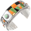 Green Turquoise Spiny Oyster Inlay Bracelet 40160