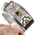 Artful Geometric Native American Pattern Cuff Bracelet 40160