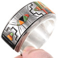 Native American Sterling Silver Green Turquoise Bracelet 40160