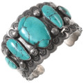 Green Turquoise Old Pawn Cuff Bracelet 40162