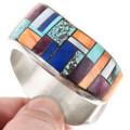 Spiny Oyster Lapis Inlay Sterling Silver Cuff Bracelet 40186