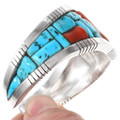 Turquoise Cobblestone Inlay Native American Cuff Bracelet 40188