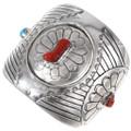 Turquoise Coral Spinner Reversible Bracelet 40192