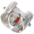 Authentic Navajo Benson Boyd Turquoise Bracelet Signed 40192