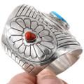 Navajo Turquoise Silver Bracelet Reversible Spinner Centerpiece 40192