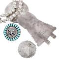 Sunface Kachina Design Necklace Jewelry Set Artist Larry Moses Signed 40194